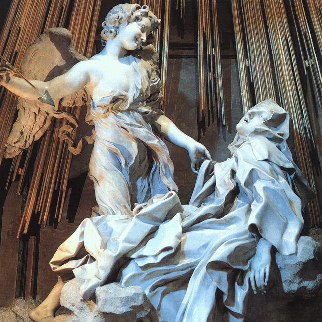 Gianlorenzo Bernini, êxtase de Santa Teresa (1647-52) Santa Maria dela Vitoria, Roma