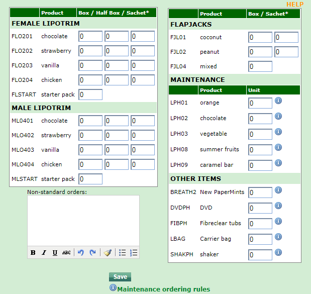 Lipotrim Patient Tracker online ordering