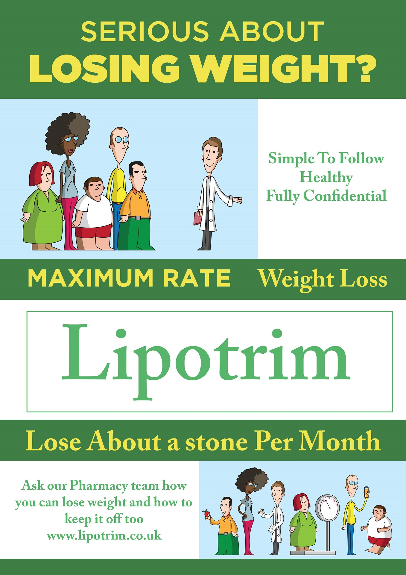Lipotrim shop posters - maximum rate weight loss