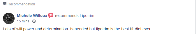 Michele Willcox facebook Lipotrim review