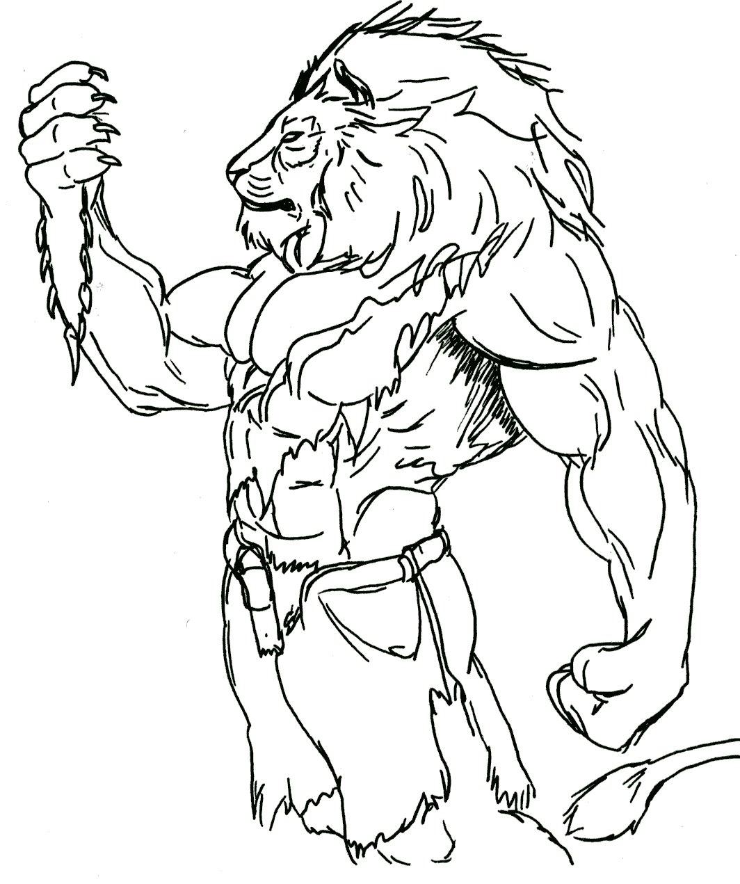 Dessins En Couleurs A Imprimer Lion Numero