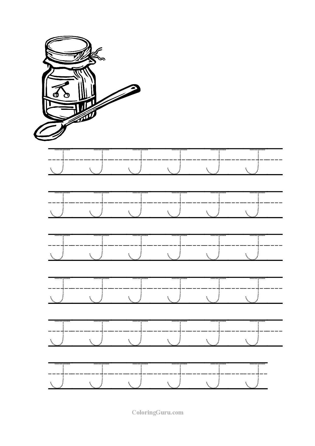 Coloriages A Imprimer Lettre J Numero