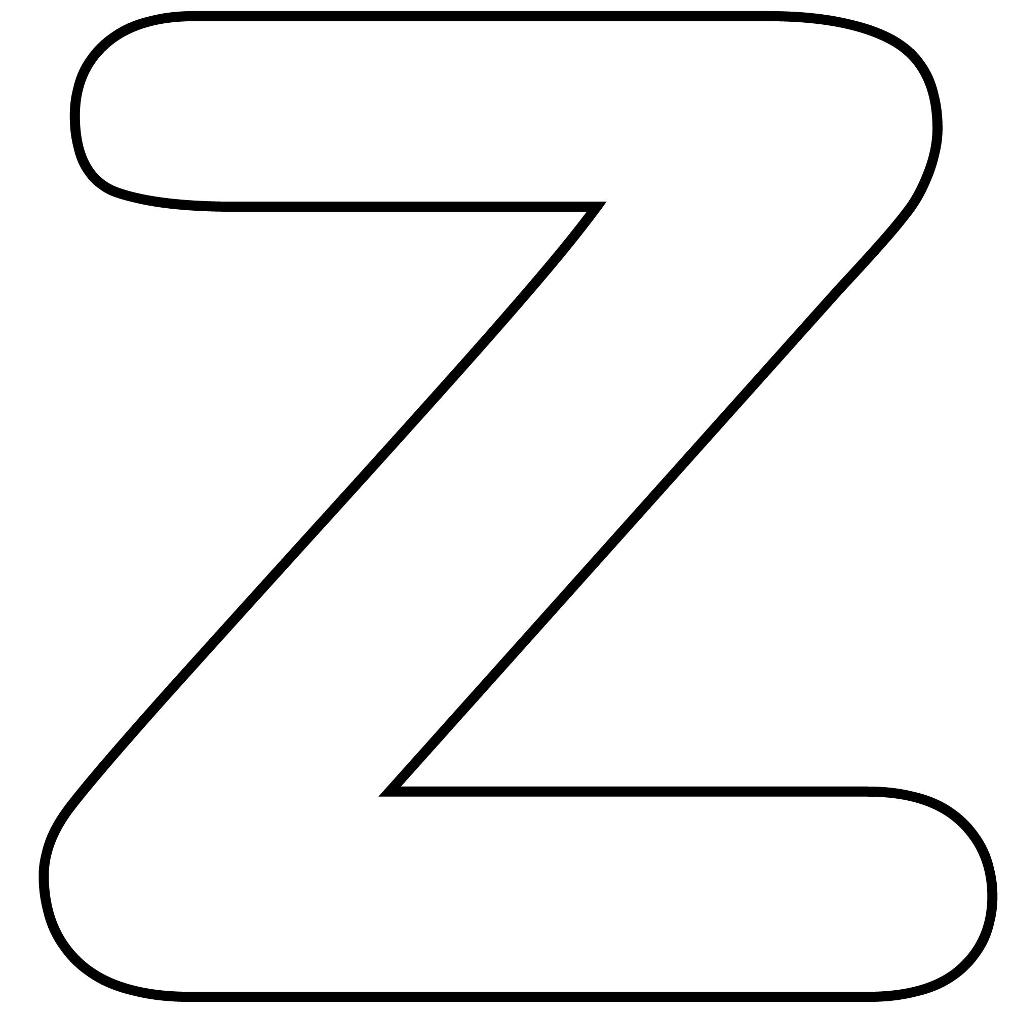 Coloriages A Imprimer Lettre Z Numero