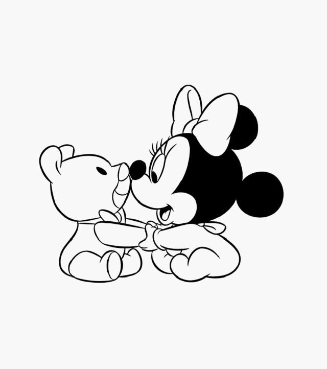 Coloriages à imprimer : Minnie Mouse, numéro : 26eec26b