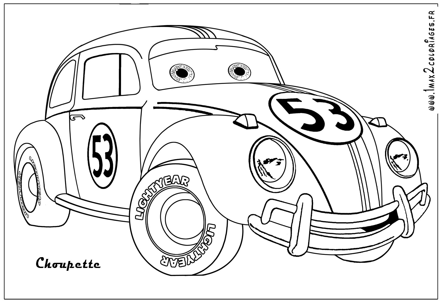 Speed Racer Coloring Pages