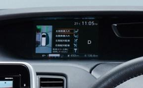 メータ-内の7インチカラーディスプレイに映像が表示されます。