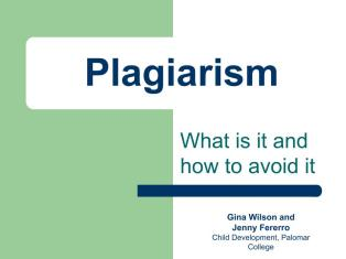 What is Plagiarism and how can it be avoided?