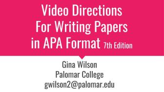 video directions for APA