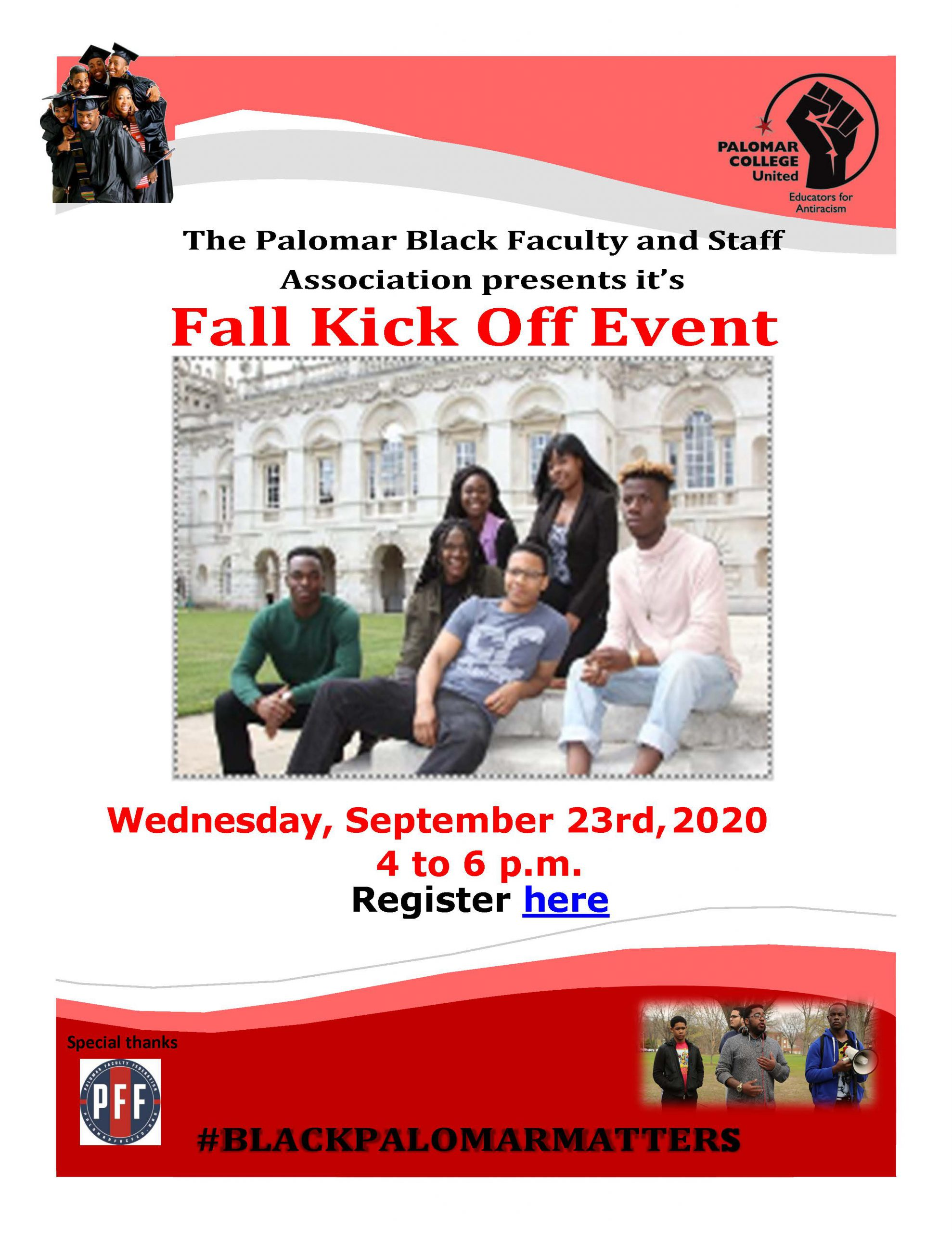 Kick Off Event on September 23 from 4 pm - 6 pm.