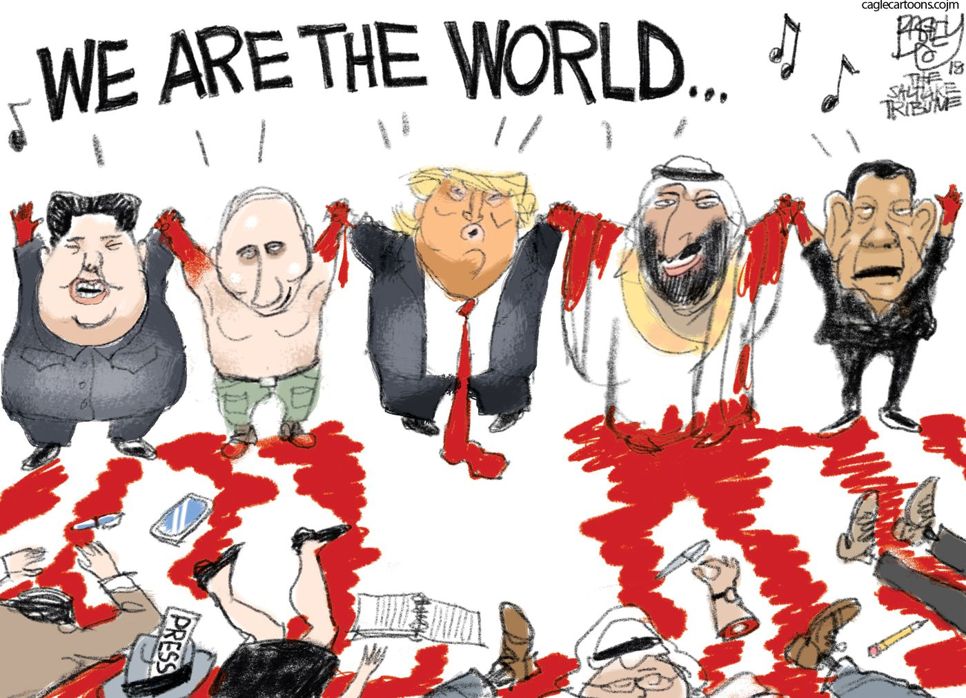 Image result for khashoggi-mbs cartoons