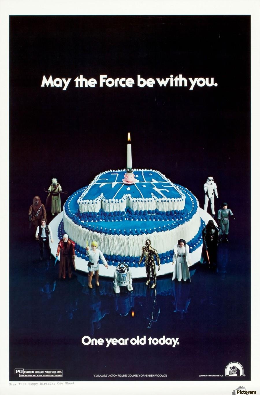 1978 Star Wars Birthday Cake Poster Vintage Poster