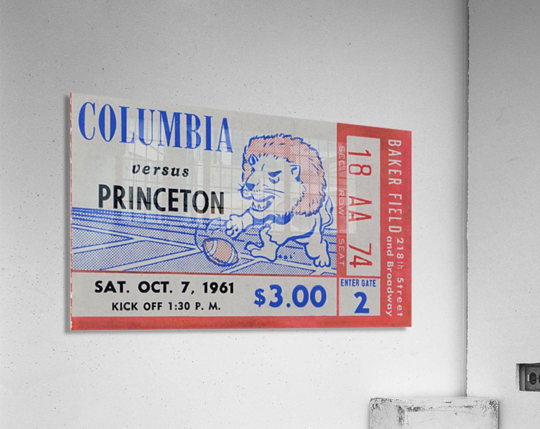 1961 columbia vs princeton ticket stub art