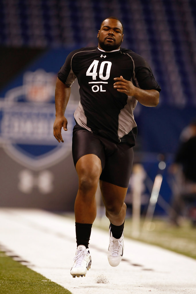 Michael Oher Photos Photos 2009 Nfl Scouting Combine Day
