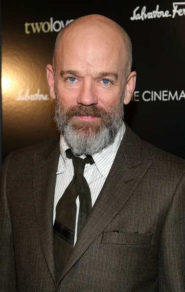 "Musician Michael Stipe attends the Cinema Society and Salvatore Ferragamo screening of ""Two Lovers"" at the Landmark Sunshine Cinema on February 11, 2009 in New York City.  (Photo by Michael Loccisano/Getty Images) *** Local Caption *** Michael Stipe"