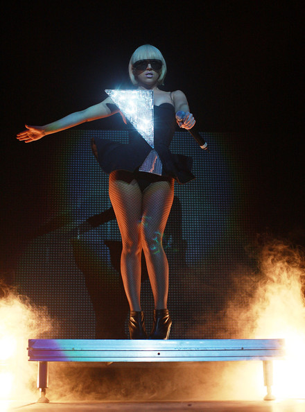 Lady Gaga performs on stage at the Vector Arena on May 16, 2009 in Auckland, New Zealand.  (Photo by Hannah Johnston/Getty Images) *** Local Caption *** Lady Gaga