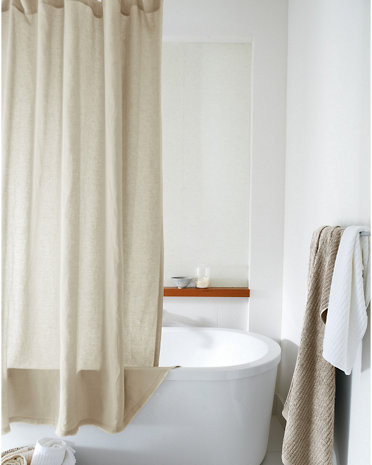washed linen shower curtain by eileen