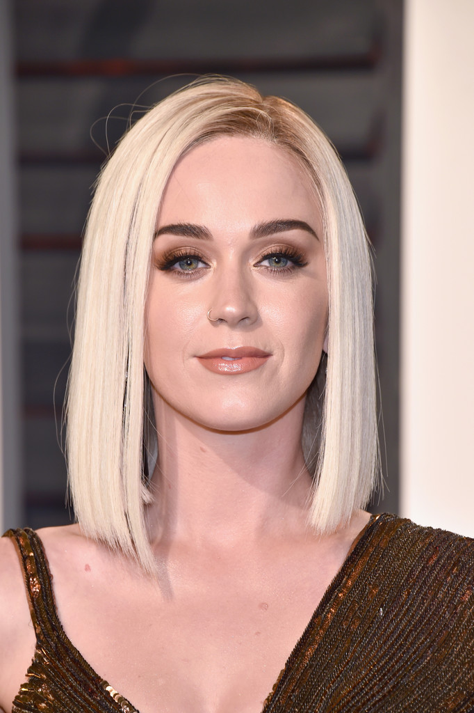 Katy Perry Asymmetrical Cut Katy Perry Looks StyleBistro