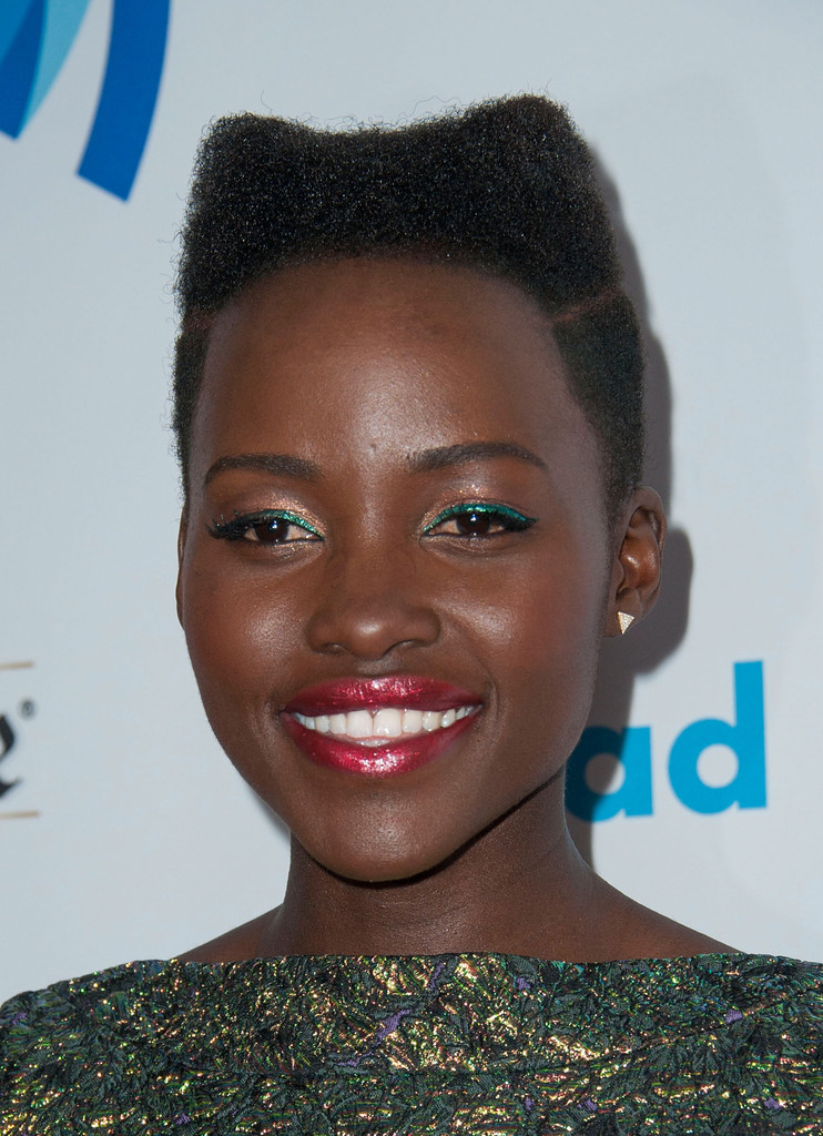 Lupita Nyongo Flat Top Short Hairstyles Lookbook