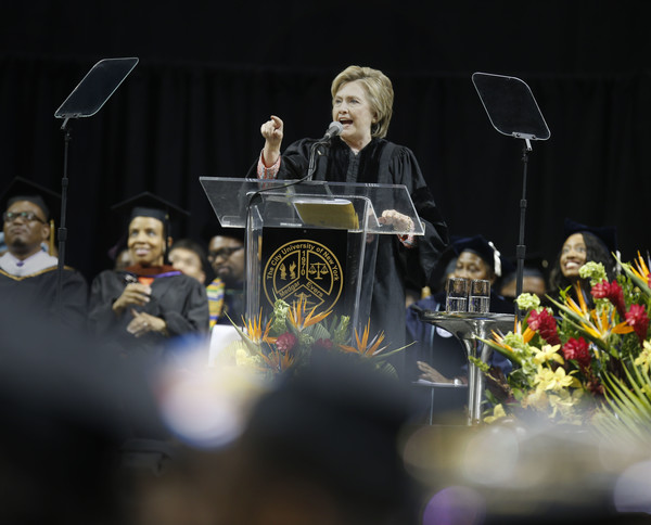 Hillary Clinton Delivers a Commencement Speech at Medgar Evers College