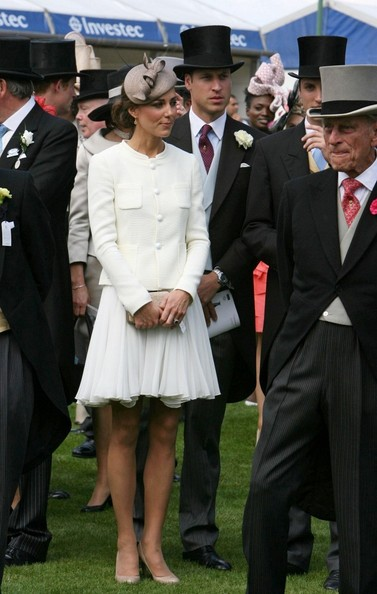 Kate Middleton Catherine, The Duchess of Cambridge and Prince William, The Duke of Cambridge attend the 2011 Epsom Derby at Epsom Downs Racecourse.