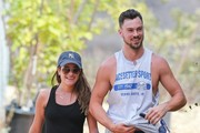 'Glee' actress Lea Michele and her boyfriend Matthew Paetz out for a hike in Los Angeles, California on September 7, 2014. Looks like the two are still going strong even after rumors of a split because Matthew was absent for her 28th birthday.