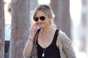 """The Crazy Ones"" star Sarah Michelle Gellar is spotted out and about on February 10, 2015 in Brentwood, California. Sarah was glued to her phone as she ran errands around town this morning."