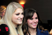 Recording artist Meghan Trainor (L) attends 101.3 KDWB's Jingle Ball 2014 presented by Sky Zone Indoor Trampoline Park and Allstate at Xcel Energy Center on December 8, 2014 in St Paul, Minnesota.