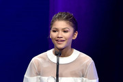 Honoree Zendaya accepts the Young Luminary Award onstage at the 2nd Annual unite4:humanity presented by ALCATEL ONETOUCH at the Beverly Hilton Hotel on February 19, 2015 in Los Angeles, California.