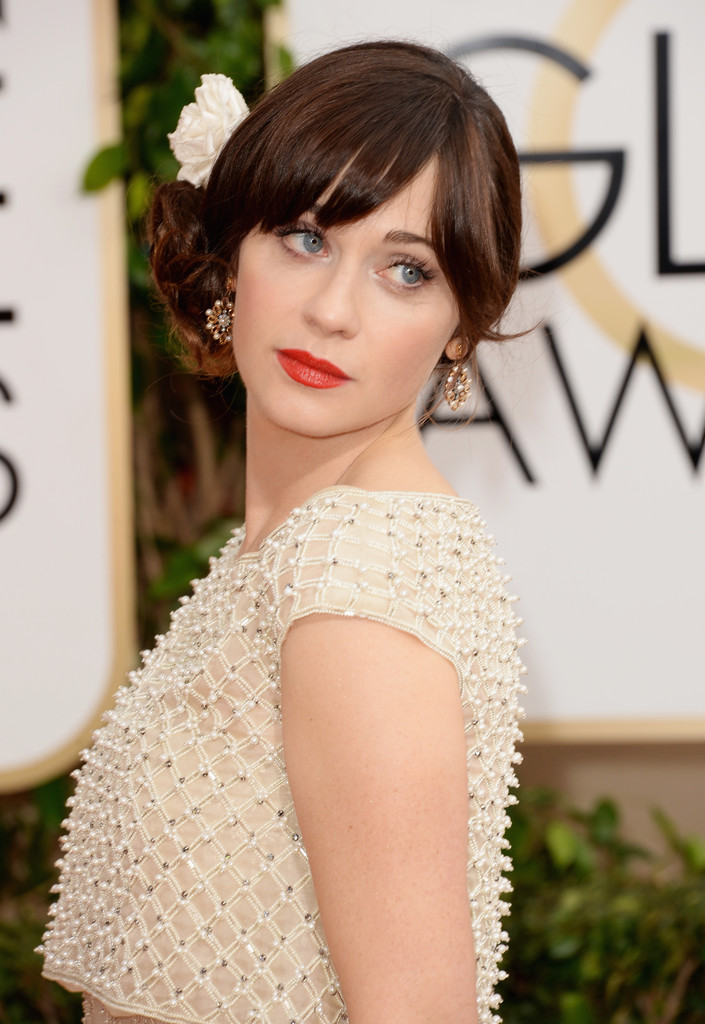 zoey deschanel 2014 golden globes