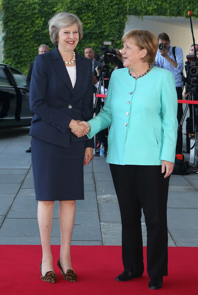 Image result for Merkel and May pictures
