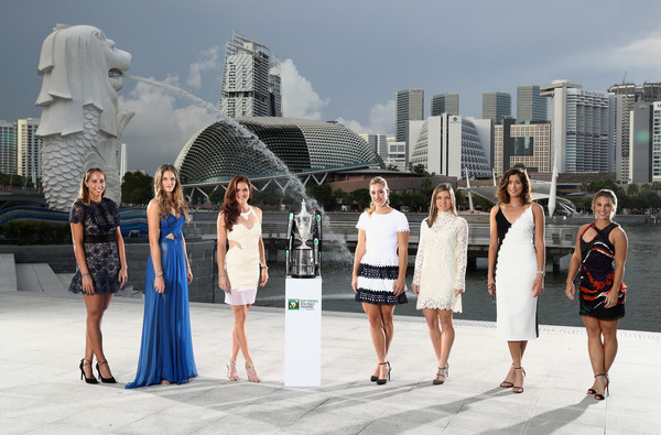 Madison Keys, Karolina Pliskova, Agnieszka Radwanska, Angelique Kerber, Simona Halep and Dominika Cibulkova (click to enlarge)