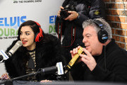 "(EXCLUSIVE COVERAGE) Charli XCX (L) and Elvis Duran visit ""The Elvis Duran Z100 Morning Show"" at Z100 Studio on December 12, 2014 in New York City."