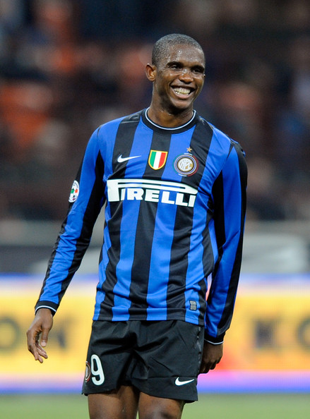Samuel Eto'o Samuel Eto'o of FC Internazionale Milano during the Serie A match between Inter Milan and Catania Calcio at Stadio Giuseppe Meazza on October 24, 2009 in Milan, Italy.