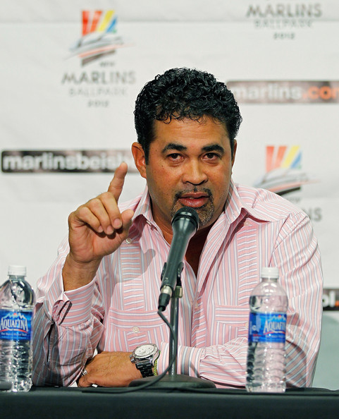 Ozzie Guillen speaks as the Florida Marlins introduce him as their new manager during a press conference at Sun Life Stadium on September 28, 2011 in Miami Gardens, Florida.