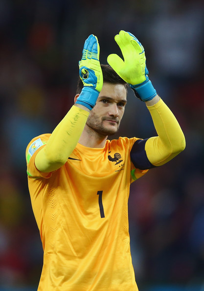 Hugo Lloris of France acknowledges the fans after defeating Honduras 3-0 during the 2014 FIFA World Cup Brazil Group E match between France and Honduras at Estadio Beira-Rio on June 15, 2014 in Porto Alegre, Brazil.