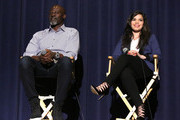 "(L-R) Actor Djimon Hounsou and actress America Ferrera attend ""How To Train Your Dragon 2"" Special Screening And Q&A at Harmony Gold Theatre on January 26, 2015 in Los Angeles, California."