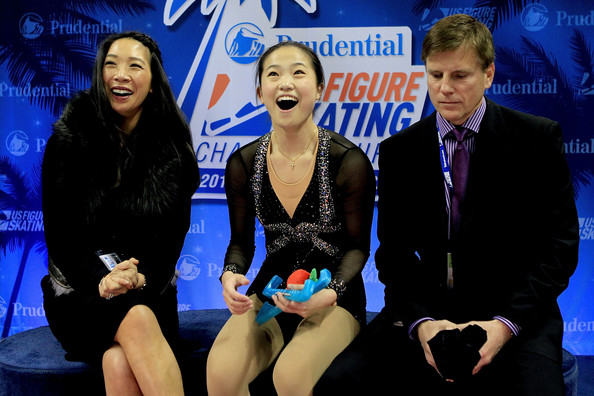 Caroline Zhang is thrilled with her Nationals free skate scores