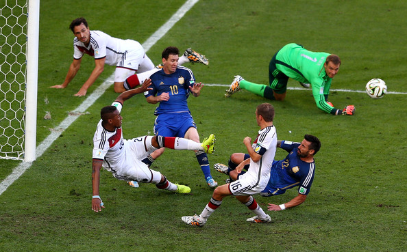 Image result for jerome boateng 2014 final messi