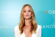 Model Rosie Huntington-Whiteley attends Moroccanoil Inspired by Women campaign launch event at the IAC Building on September 17, 2014 in New York City.