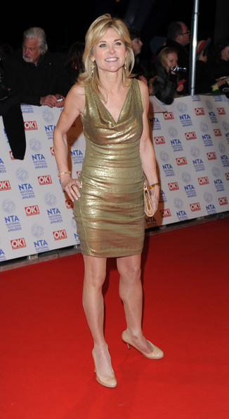 Anthea Turner In National Television Awards Red Carpet