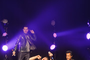Jordan Knight, Joey McIntyre, and Danny Wood of New Kids On The Block perform at Gramercy Theatre on February 15, 2015 in New York City.