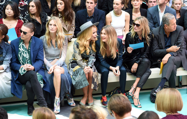 Paloma Faith and Poppy Delevingne - Front Row at Burberry