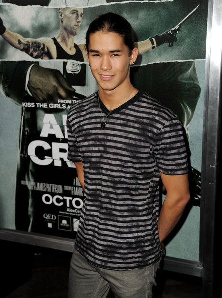 "Actor BooBoo Stewart arrives at the premiere of Summit Entertainment's ""Alex Cross"" at the Arclight Theater on October 15, 2012 in Los Angeles, California."