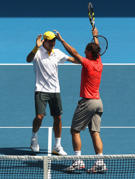 "Roger Federer and Rafael Nadal - 2011 Australian Open - ""Rally For Relief"""
