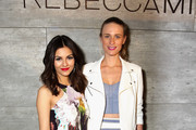 Actress Victoria Justice and model Julie Henderson attend the Rebecca Minkoff fashion show during Mercedes-Benz Fashion Week Fall 2015 at The Pavilion at Lincoln Center on February 13, 2015 in New York City.
