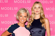 ModelCo CEO and Founder Shelley Barrett and ambassador Rosie Huntington-Whiteley attend the launch ModelCo natural skincare collection at Customs House on August 26, 2014 in Sydney, Australia. ModelCo ambassador Rosie Huntington-Whiteley is in Sydney to launch the new natural skincare collection.