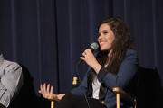"Actress America Ferrera attends a screening of DreamWorks Animation's ""How To Train Your Dragon 2"" at Harmony Gold Theatre on January 26, 2015 in Los Angeles, California."
