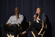 "Actor Djimon Hounsou and actress America Ferrera attend a screening of DreamWorks Animation's ""How To Train Your Dragon 2"" at Harmony Gold Theatre on January 26, 2015 in Los Angeles, California."
