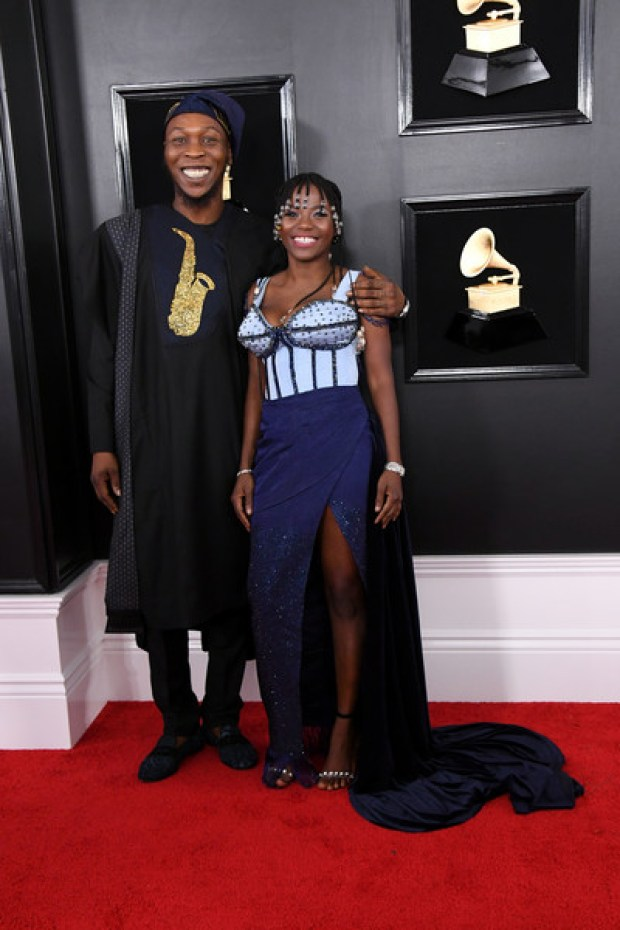 Image result for Seun Kuti (L) and Yetunde attend the 61st Annual GRAMMY Awards at Staples Center