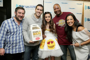 (L-R) Ryan Sampson, Rich Davis, Megan Nicole, Stanley T and Nicole Ryan attend Hits 1's The Morning Mash Up Broadcast from the SiriusXM Studios on February 11, 2015 in Los Angeles, California.